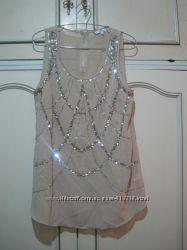 Красивая под шифон нарядная блузка лето размер 12