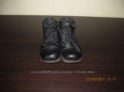 Кожаные ортопедические ботинки- сапожки
