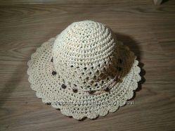 Соломенная плетёная пляжная шляпа панама