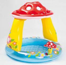 Надувной бассейн для малышей с крышей Грибок Intex. Низкая цена