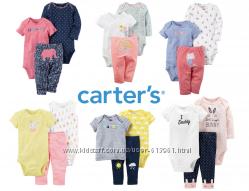 Комплекты-тройки для девочек Картерс Веселые попки