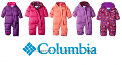 Зимние слитные пуховые комбинезоны Оригинал Columbia 3-6 6-12 12-18 18-24