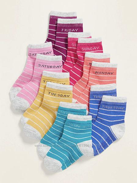 Комплект набор носочков Неделька Олд Неви для девочки