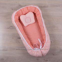 Кокон позиционер гнездышко для сна с ортопедическим матрасом и подушечкой