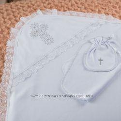 Крыжма с кружевом с уголком, мешочком и салфеткой Бетис Betis