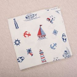 Пеленка фланелевая хлопковая Кораблик 80х100 см Бетис Betis