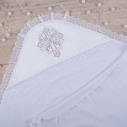 Крыжма с уголком Сонечко-3 с вышивкой Махра 75х100 см белый Betis