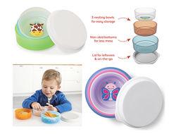 Набор из 3-х детских тарелок с крышкой Skip Hop Zoo Скип Хоп