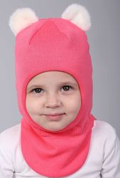 Зимняя шапка-шлем с утеплением Дина