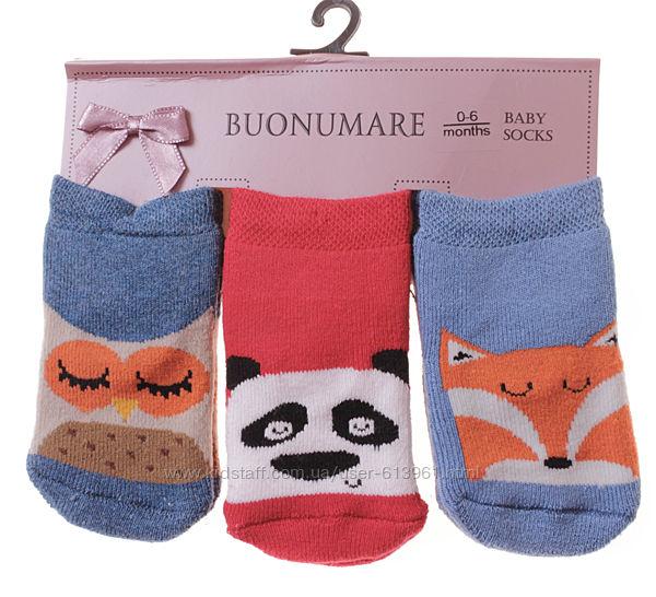 Набор махровых носков 0-6 мес. Buonumare