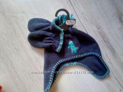 Флисовый набор  шапка и варежки 1, 5-3года