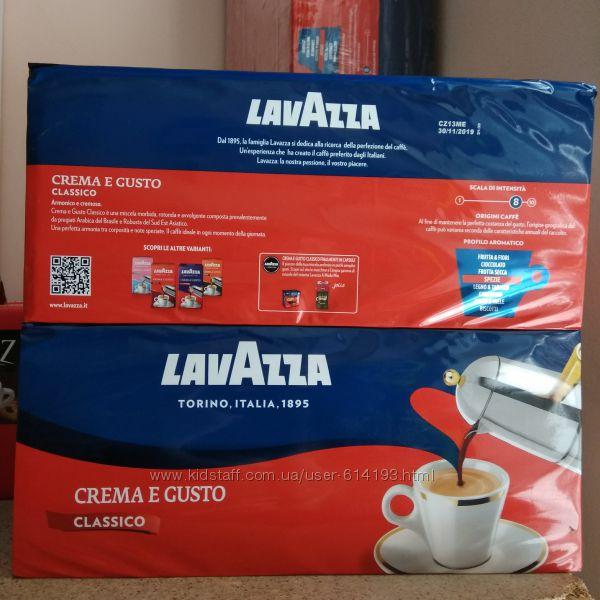 Кофе молотый Lavazza Crema Gusto Classico, carmencita 250г оригинал Италия