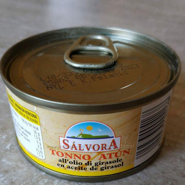 Тунец 80г в масле, соку Salvora, Rio mare Италия, Испания