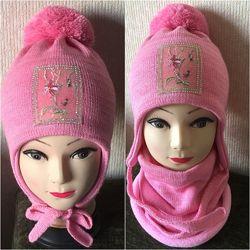 Зимняя шапка  в комплекте с хомутом
