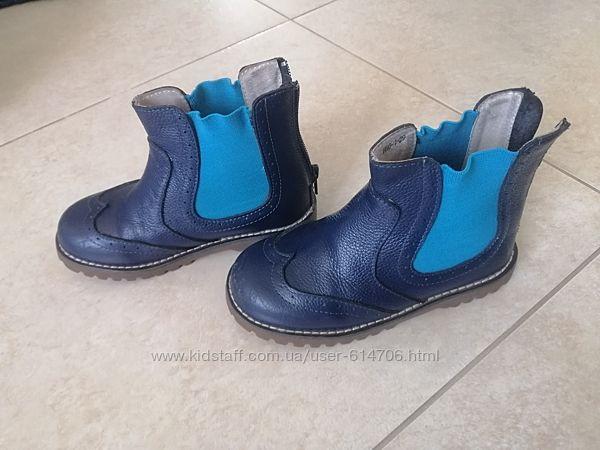 Стильные кожаные ботинки бу для мальчика Evie shoes демисезонные