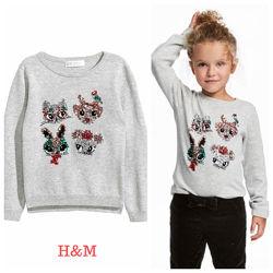 Джемпер для девочки H&M,4-6 лет