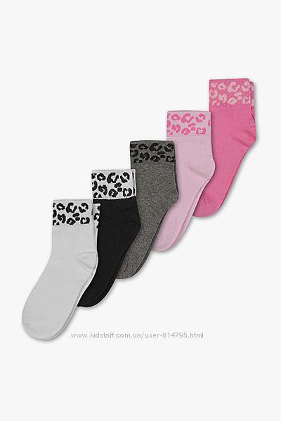 C&A детские носки  для девочки. Цена за 5 шт.