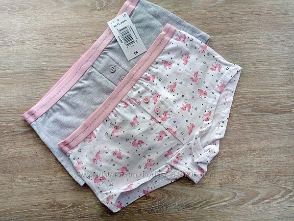 Трусики шортики на девочку Matalan Англия. Цена за набор. ,10-11 лет