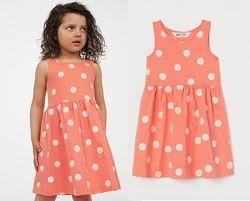 Платье для девочки h&m в блестящий горох