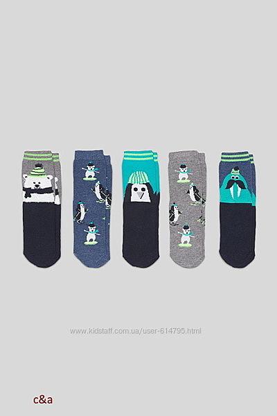 C&a носки на мальчика с рисунком