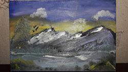 Картина Горы пейзаж Холст Масло