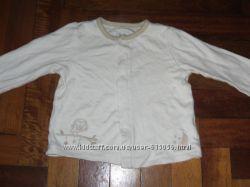 Рубашка трикотажная на 9мес на кнопках реглан
