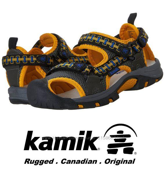 Kamik сандалии с закрытым носом US13 EUR31 стелька 19, 2см