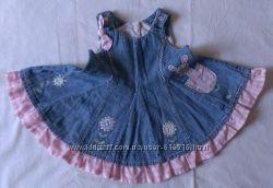 Платье - сарафан джинсовый NEXT на 3-6 месяцев