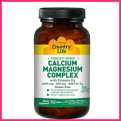 Country Life, Кальций, Магний и Витамин D3, 90 Tablets