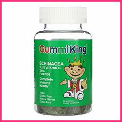 GummiKing, Эхинацея с витамином С и цинком, Для детей, 60 шт