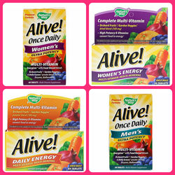 Nature&acutes Way, Alive, Daily Energy, Multivitamin-Multimineral, 60 Table