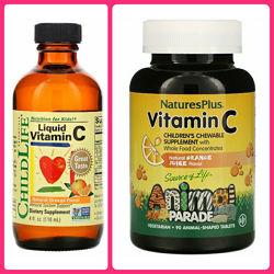 Nature&acutes Plus,  Animal Parade, витамин C для детей , Child Life