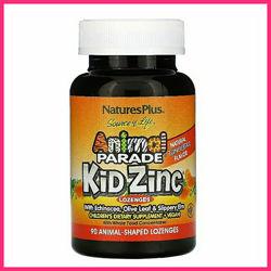 Natures Plus, цинк для детей хелатный, Kid Zinc, 90 таблеток
