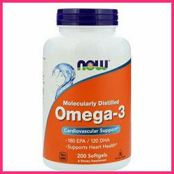 Омега-3, Now Foods, Омега-3, 180 EPA120 DHA, 200 капсул