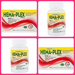 Nature&acutes Plus, Hema-Plex 60 капсул Быстрого действия