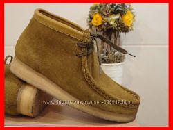 Туфли ботинки кларкс clarks натуральная замша, подошва полиуретан размер 38