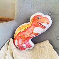 Подушки Динозавры, индейцы, улитки, ламы