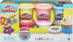 Набор пластилина Play-Doh 6 баночек с конфетти B3423