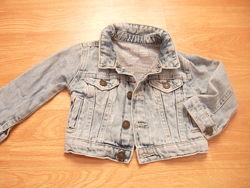 Пиджак джинсовый с потертостями, River Island, 6-9 мес, 74 рост, Пакистан 1