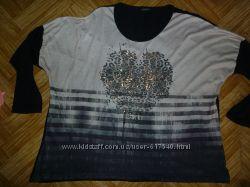 реглан футболка блузка большой размер 50&9252