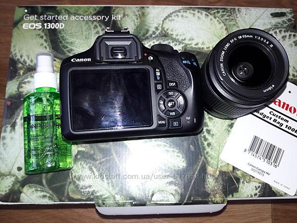 Фотоаппарат canon eos 1300d 18-55 dc kit подарки