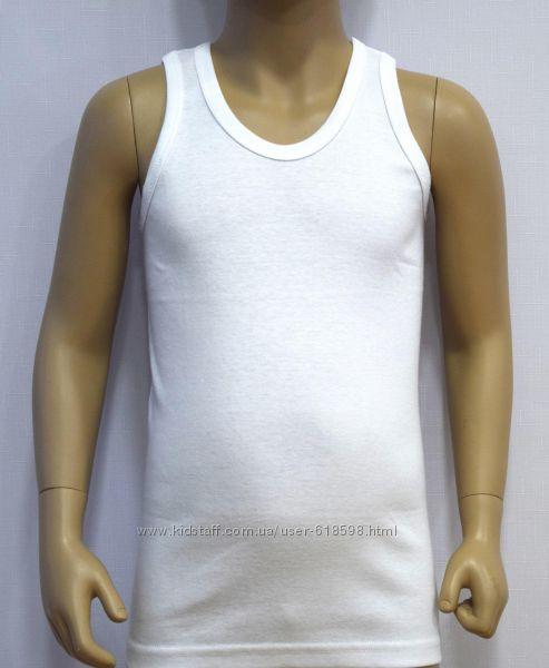Майки белые для мальчика ТМ Байкар и BrossUnderwear