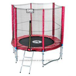 Батут  Atleto 183см 6ft для детей спортивный с лестницей и внешней сеткой