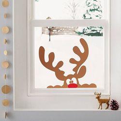 Новогодние наклейки на окно Каждому подарок