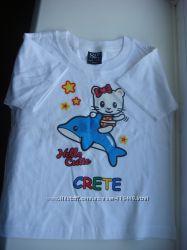 Новая футболка на девочку, возраст 3-4 года