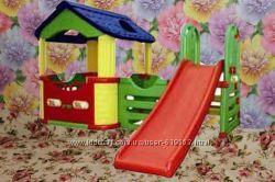 Игровой пластиковый домик, горка - прокат