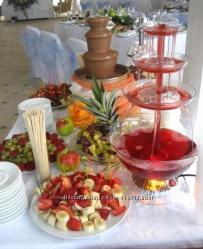Шоколадный фонтан и фонтан для напитков прокат