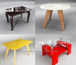 Столы стеклянные. Выбор моделей, расцветок, форм. Бесплатная доставка