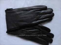 Мужские кожаные перчатки 10р, подкладка махра