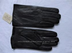 Мужские кожаные перчатки, плюшевая подкладка